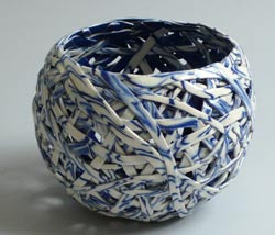 blue and white tangle baskets
