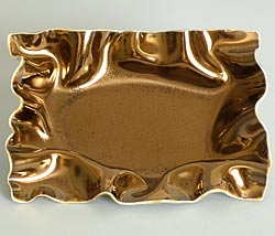 gold rectangle plates