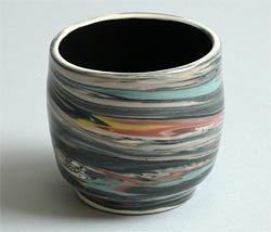 marbleized cup